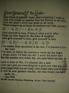 Give Yourself to Love
